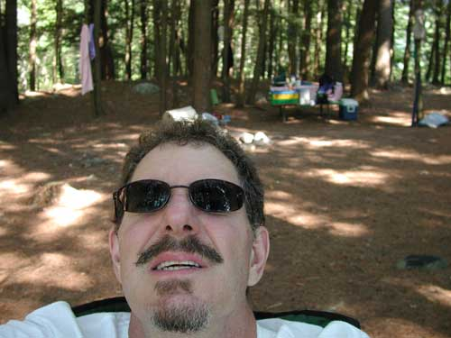 Self Portrait while camping